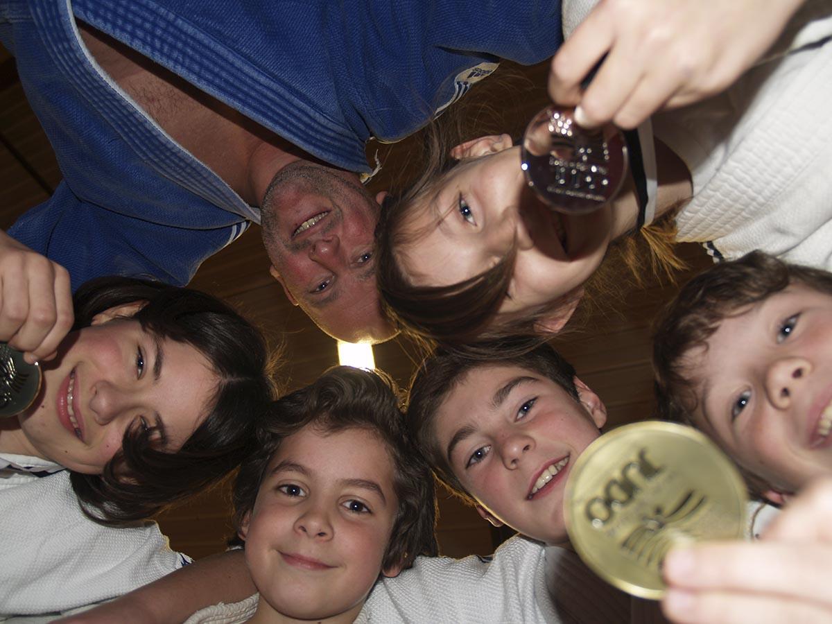 enfants et Romain Ménard