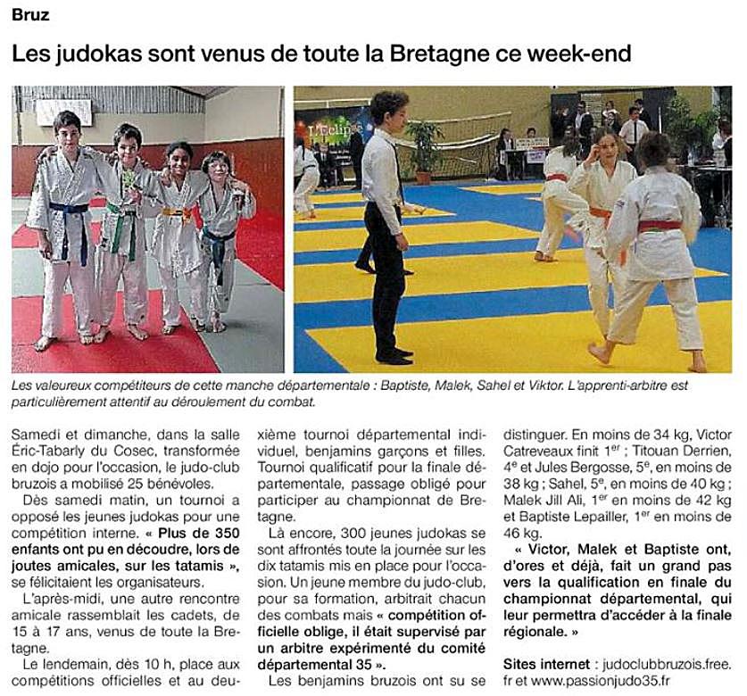 article judo week end 24 et 25 mars 2018